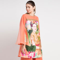 HaiFrida Top in Orange Bliss with Sequins-2Madison Avenue Indonesia