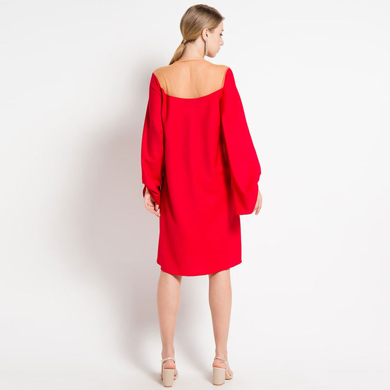 Morocco Long Sleeve Red Dress-2Madison Avenue Indonesia