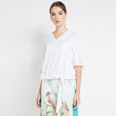 Fancy Blouse with Abstraction Art