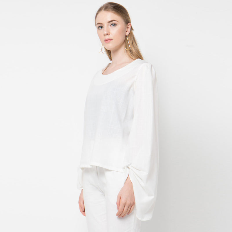 Morocco Blouse White-2Madison Avenue Indonesia