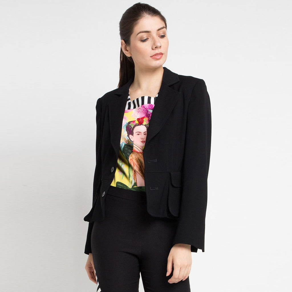Signature Black Blazer-2MADISONAVENUE.COM