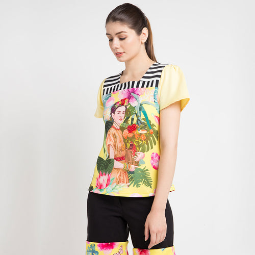 T-shirt Frida in Yellow Bliss-2Madison Avenue Indonesia