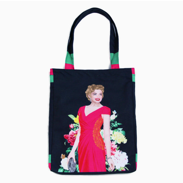 Medium Tote Bag With Marilyn Tropical