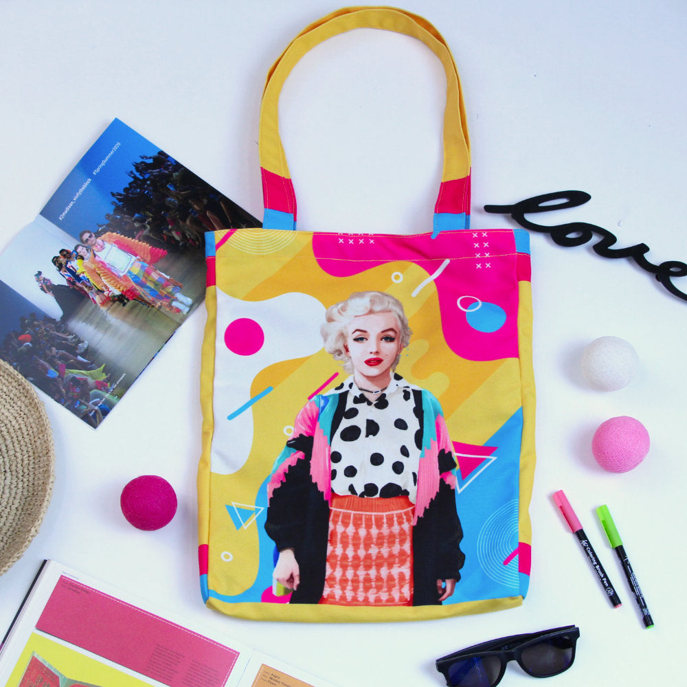 Medium Tote Bag With Marilyn Pop-2MADISONAVENUE.COM