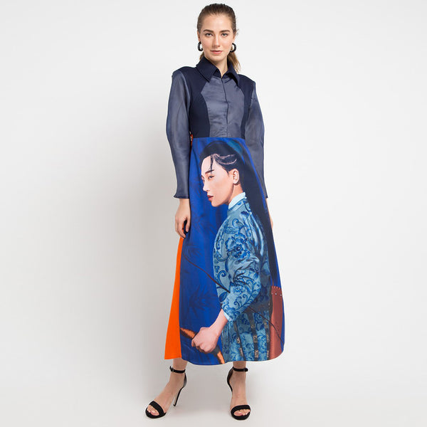Regal Long Dress With Bridget Art-2Madison Avenue Indonesia