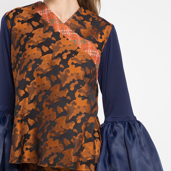 Joan Top With Army Orange-2Madison Avenue Indonesia