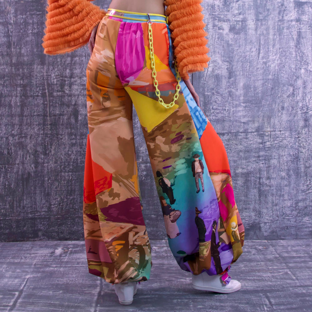 Harem Pants With Recoloring Art-2MADISONAVENUE.COM