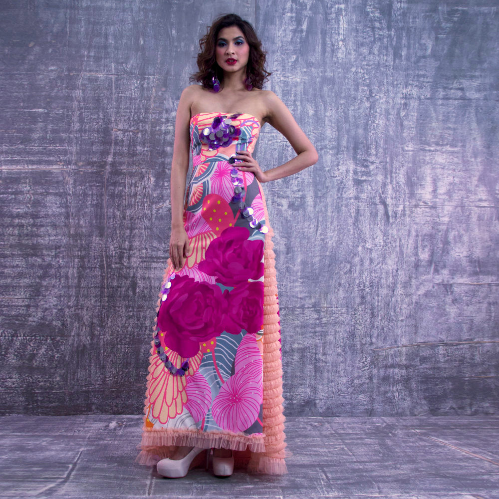 Evening Dress With Recharging Pink-2MADISONAVENUE.COM (4266755522602)