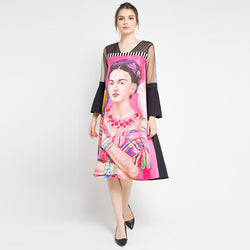 Dress Frida Kahlo with Tulle Long Sleeve-2Madison Avenue Indonesia