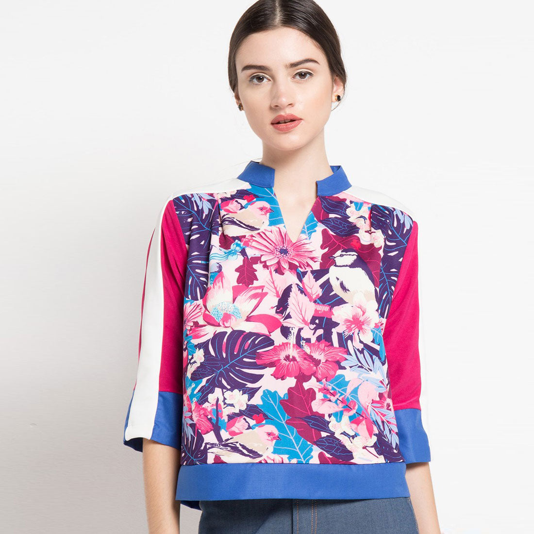 Fancy Blouse Paradiso With Collar-2Madison Avenue Indonesia