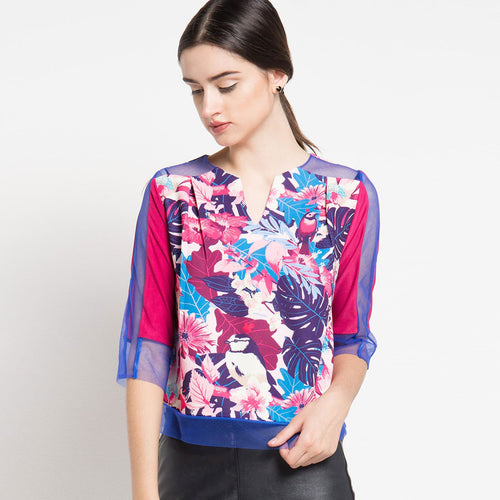 Paradiso Blouse With Tulle-2Madison Avenue Indonesia
