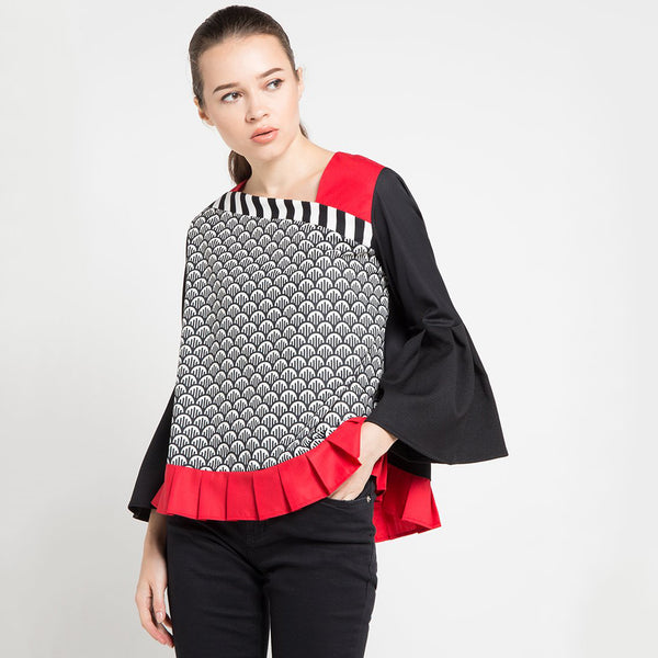 Avenue Fancy Blouse Long Sleeve-2MADISONAVENUE.COM
