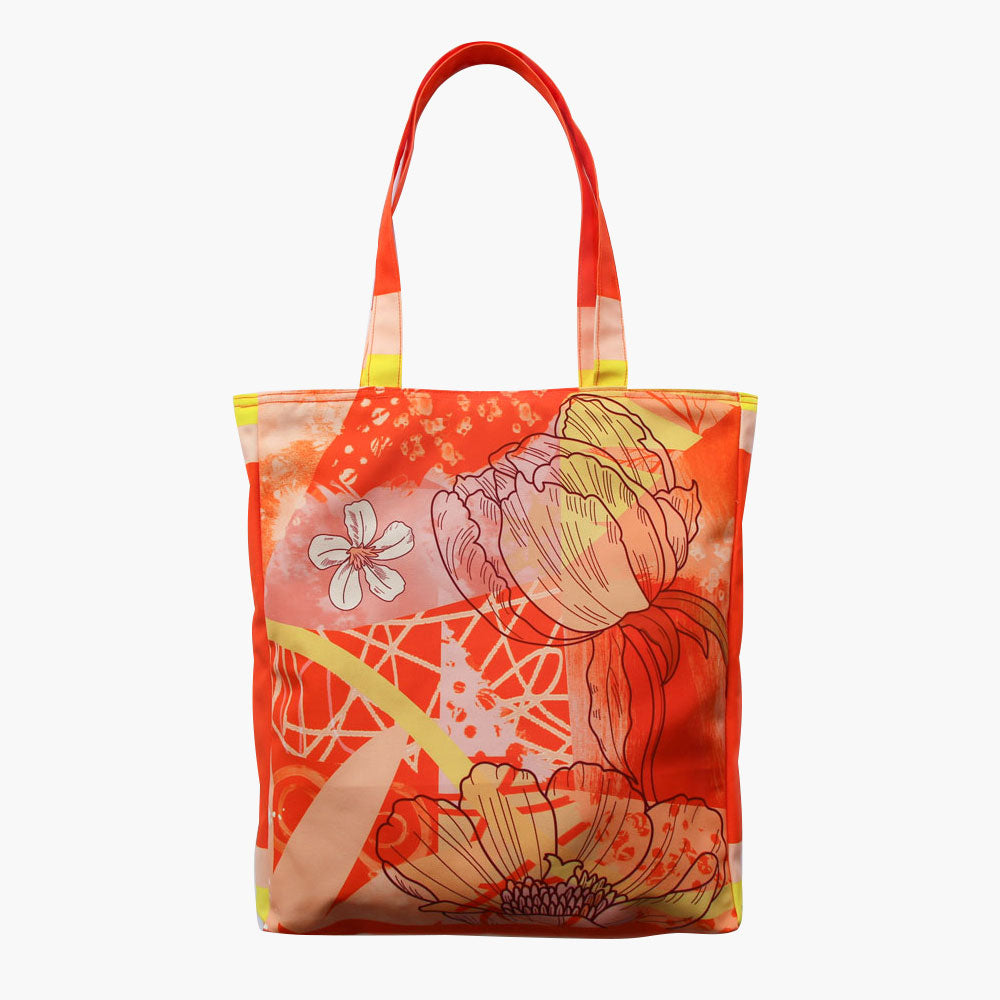 Orbital Orange Tote Bag-2MADISONAVENUE.COM
