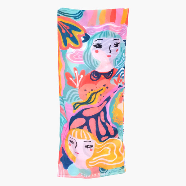 Doodle Dollie Long Scarf-2MADISONAVENUE.COM