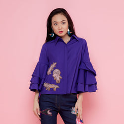 Tango Shirt In Purple With Robet Olga Patch