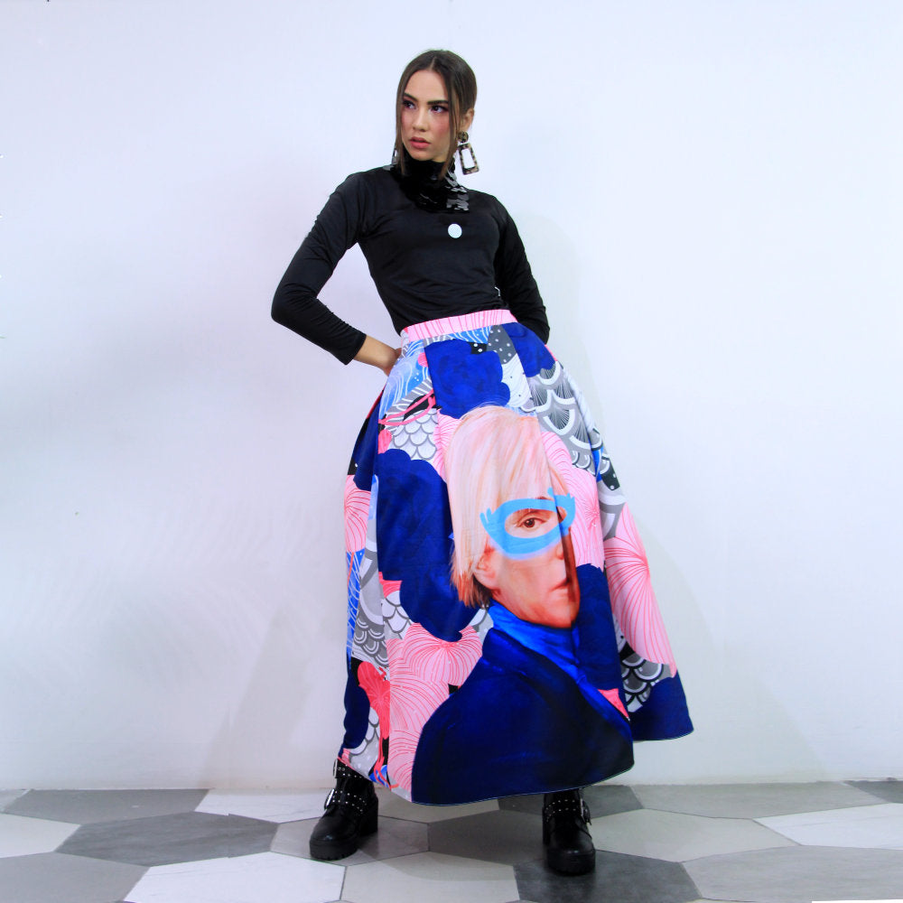 Fancy Ball Long Skirt With Recharging Andy Warhol-2MADISONAVENUE.COM (4341853126679)