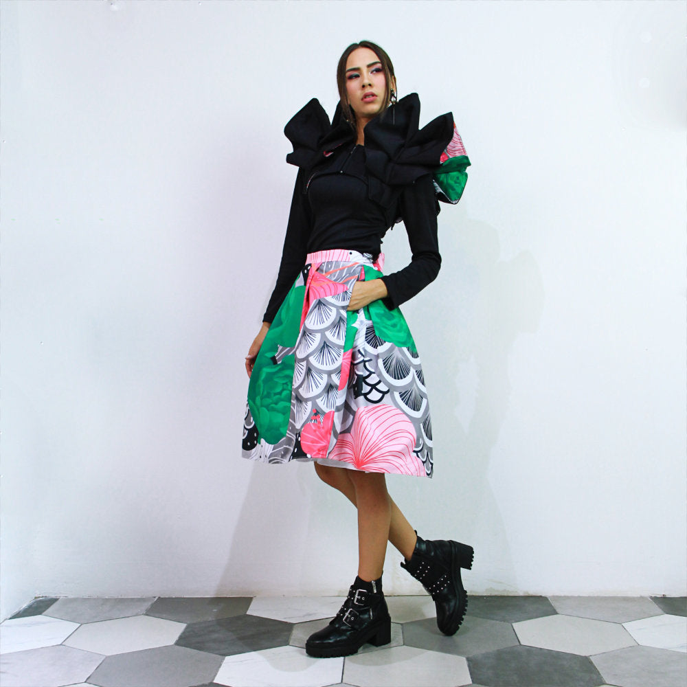 Fancy Ball Medium Skirt With Recharging Green-2MADISONAVENUE.COM (4341857320983)