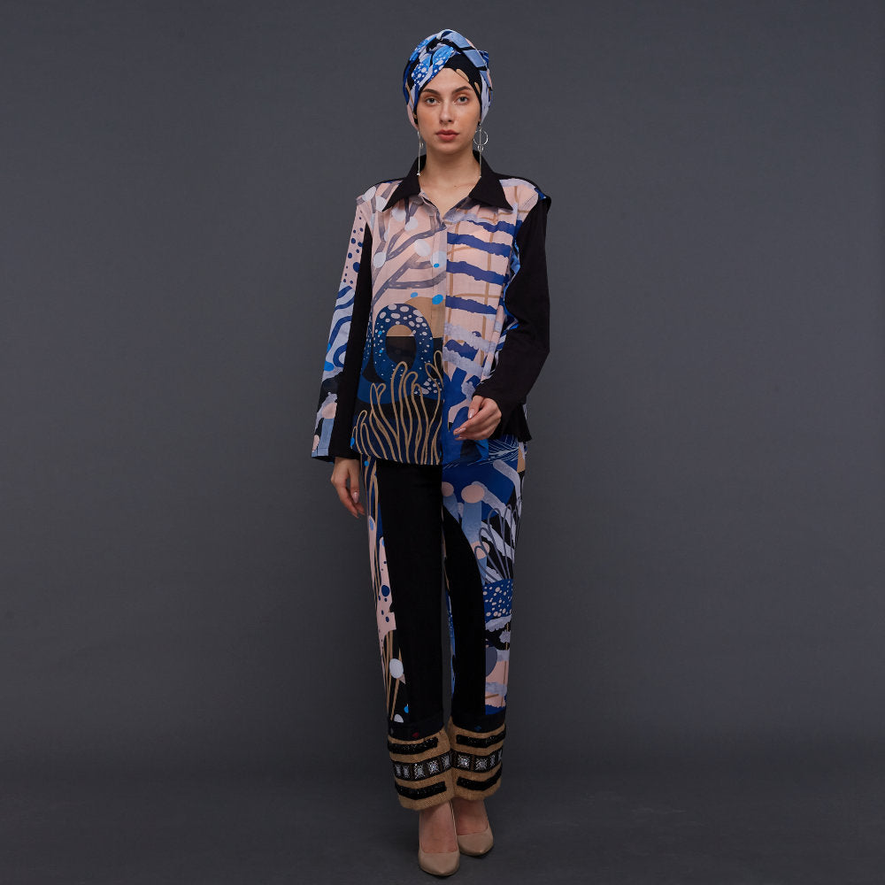 Ganger Shirt With Liga in Deep Blue (4830045241367)