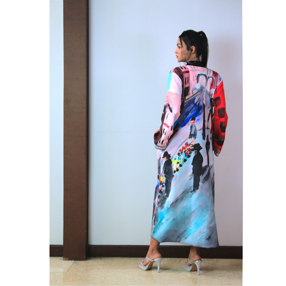 Glam Long Outer With Downmidup Art-2MADISONAVENUE.COM