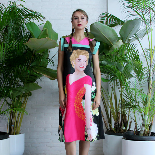 Gomez Dress with Marilyn Tropical Art