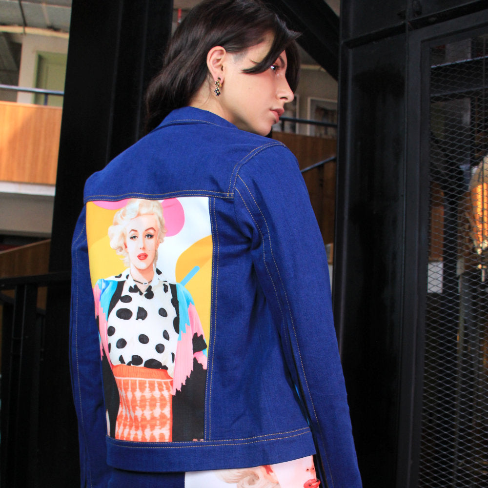 Signature Denim Jacket With Marilyn Pop