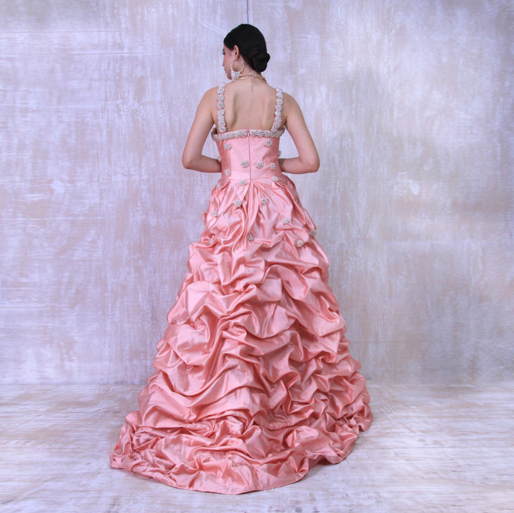 Liga Susi Evening Dress in Dusty Pink (4534889545751)