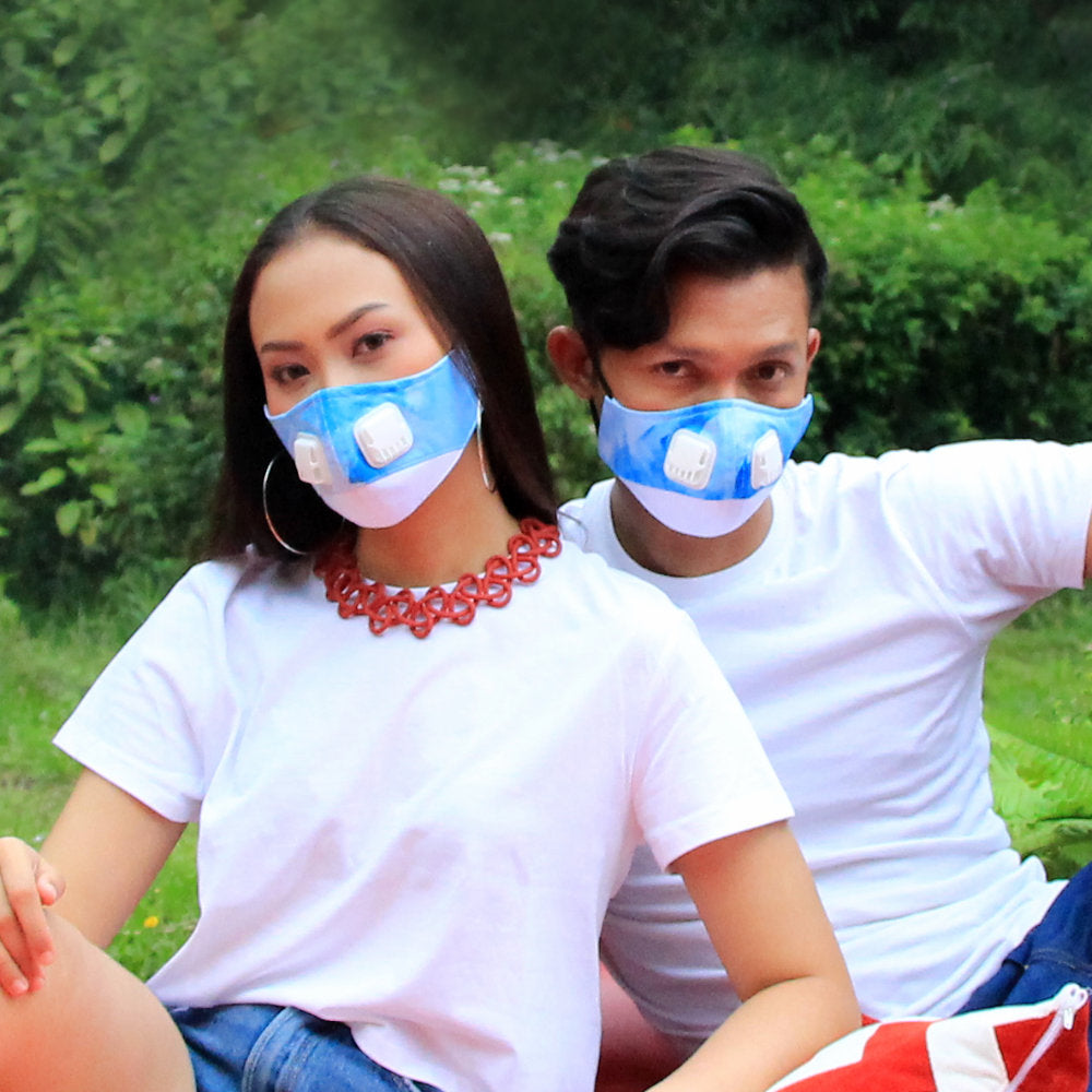 2Madison The Clouds Facemask With Air Valve / Masker dengan Katup Udar - Earloop