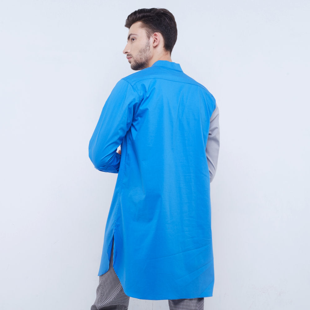 Liga Man Retreat long shirt in blue (4534900752407)