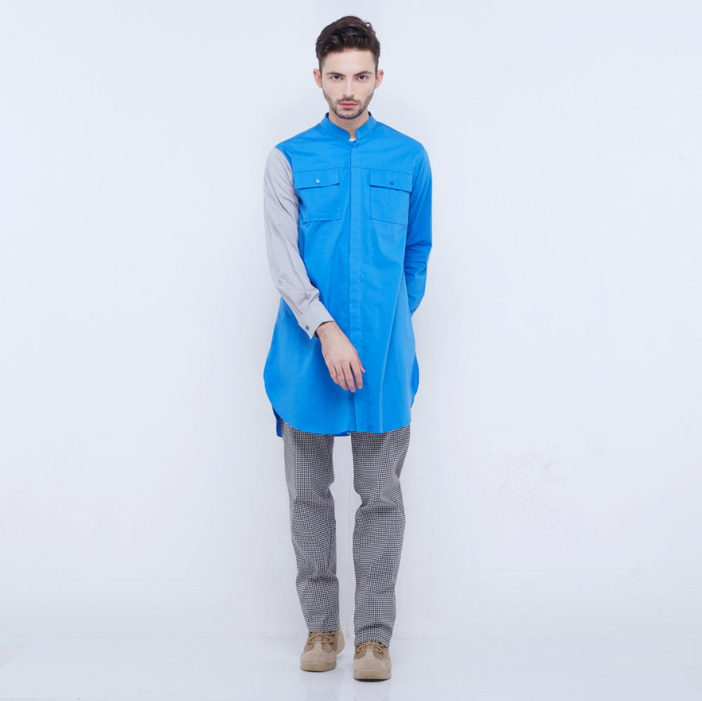 Liga Man Retreat long shirt in blue