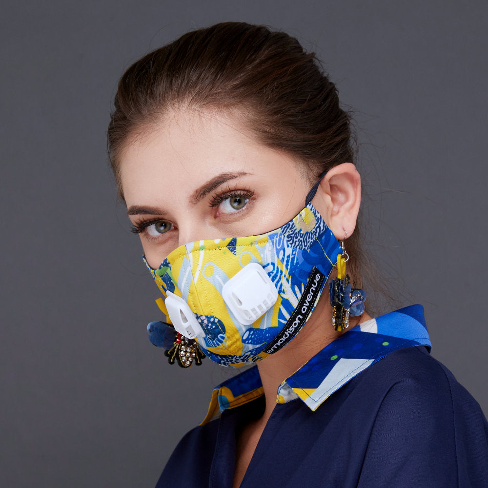 Liga in Yellow Facemask With Air Valve (4535557292055)