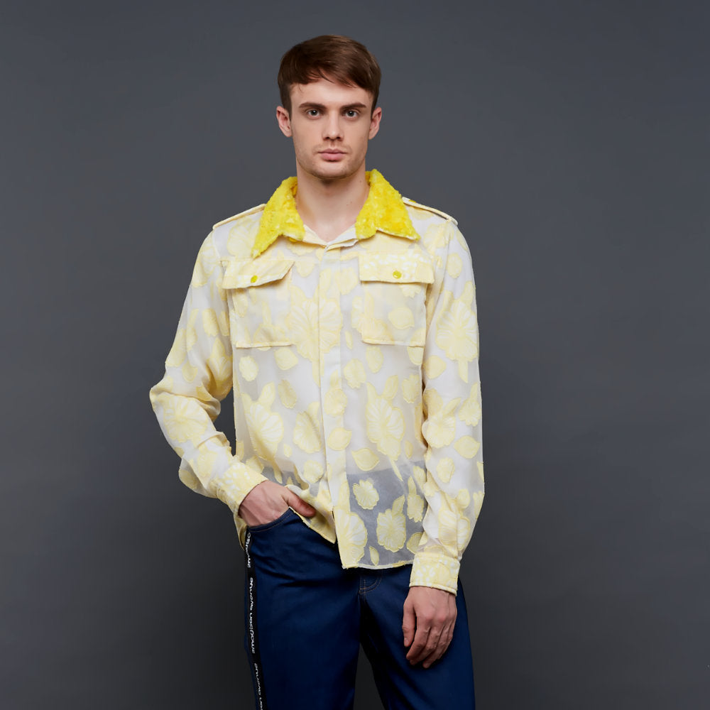Liga man basic shirt with contrast collar (4534895771671)
