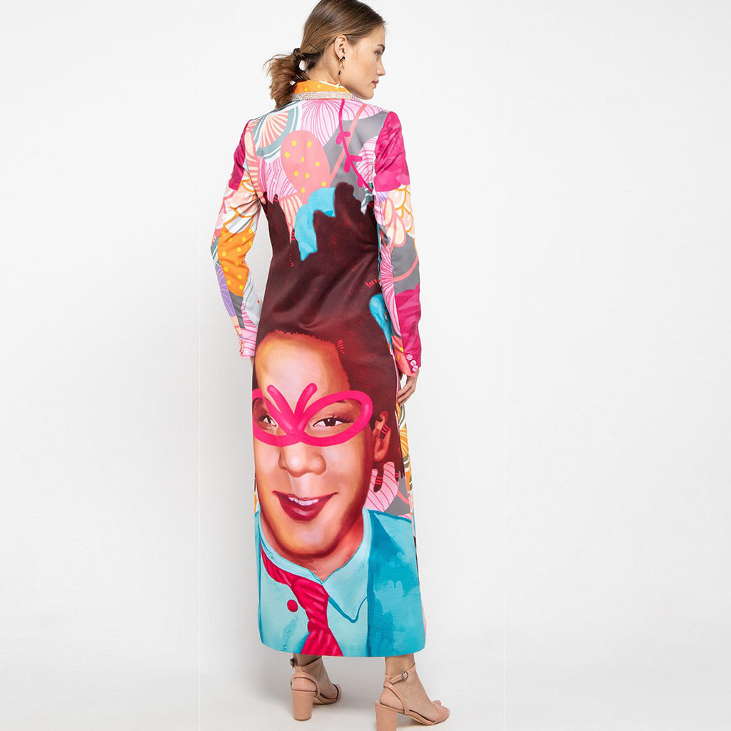 Long Jacket Recharging Pink With Jean Basquiat-2MADISONAVENUE.COM