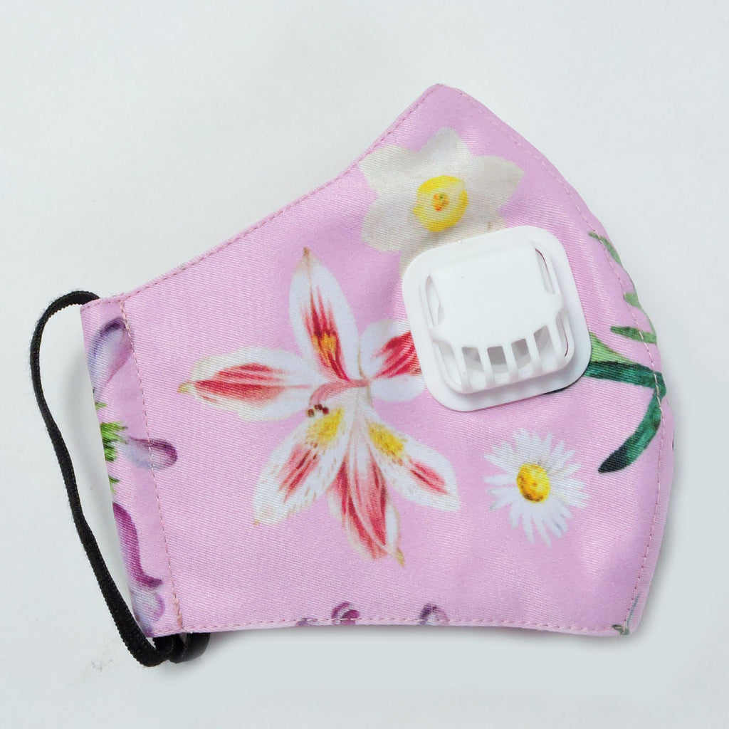 Spring Pink Facemask With Air Valve-2MADISONAVENUE.COM (4423345700887)