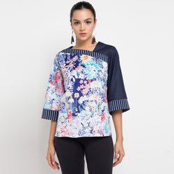 Macy Top With Secret Garden Art-2Madison Avenue Indonesia
