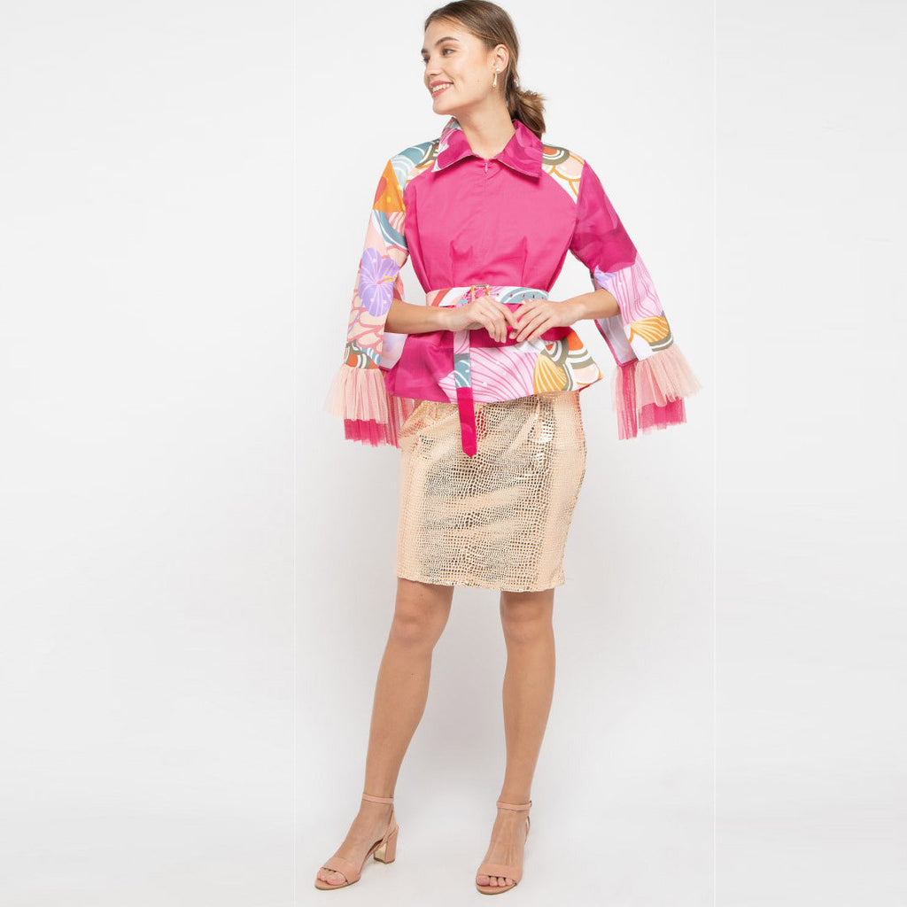 Me Statement Top in Recharging Pink-2MADISONAVENUE.COM (4324409278487)