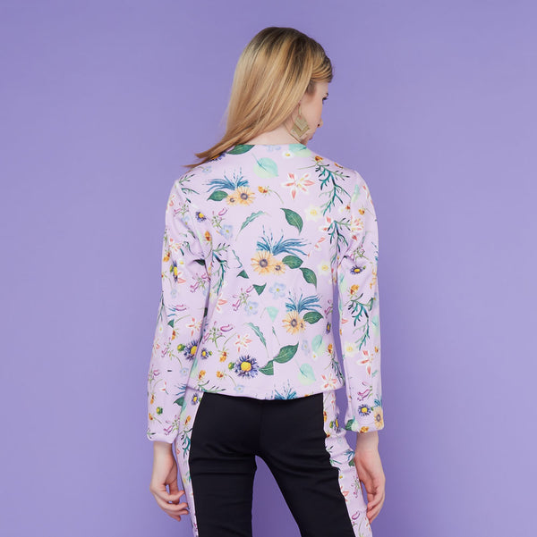 Miranda Jacket With Spring Garden In Lavender