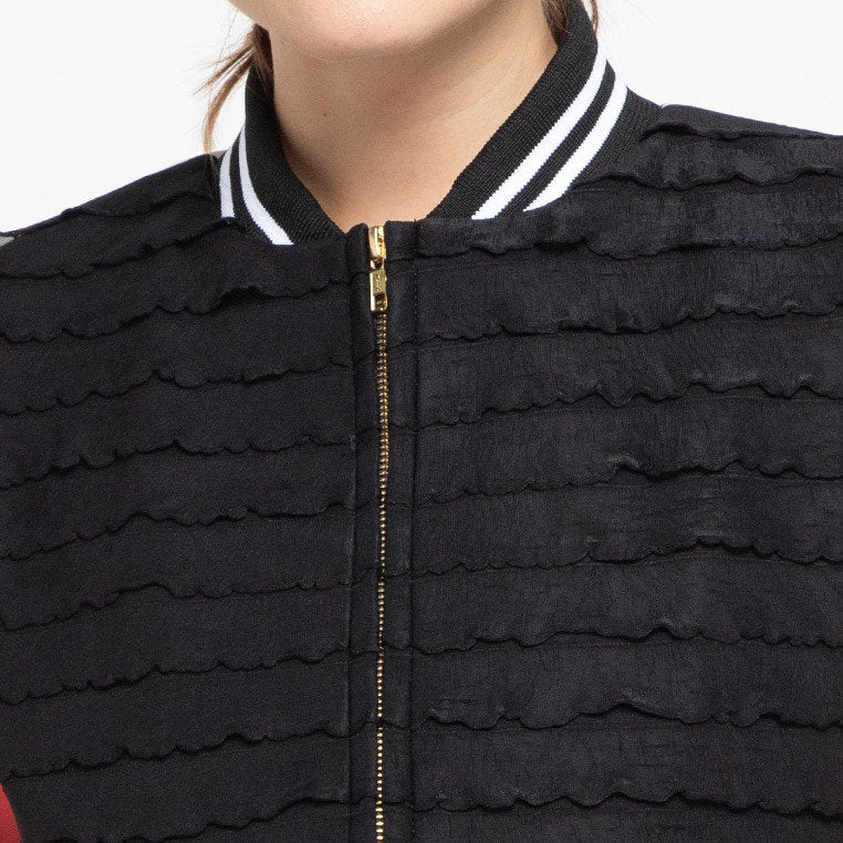 Pullover Jacket With Recharging in Black