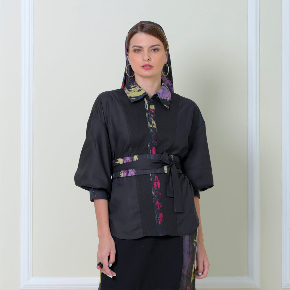 Relaxing Reg Top With Abstract Black Reminiscence Accent (6546988433431)