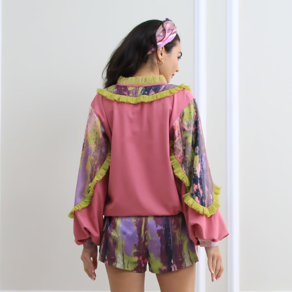 Romantic Top With Abstract Purple Reminiscence (6548791328791)