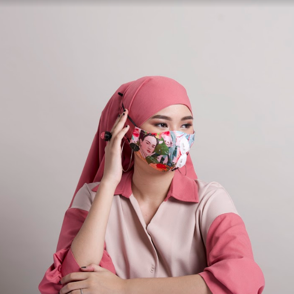 Premium Frida Pink Bliss Facemask With Air Valve (4475716272151)