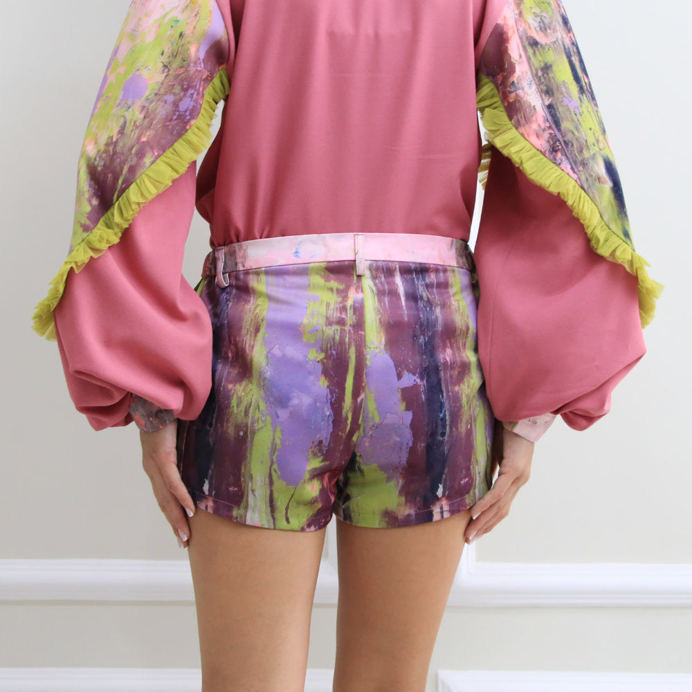 East Side Short Pants With Abstract Purple Reminiscence (6548791230487)