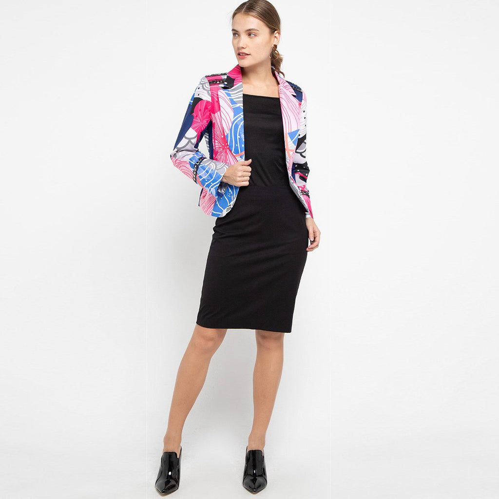 Signature Blazer With Recharging Blue-2MADISONAVENUE.COM