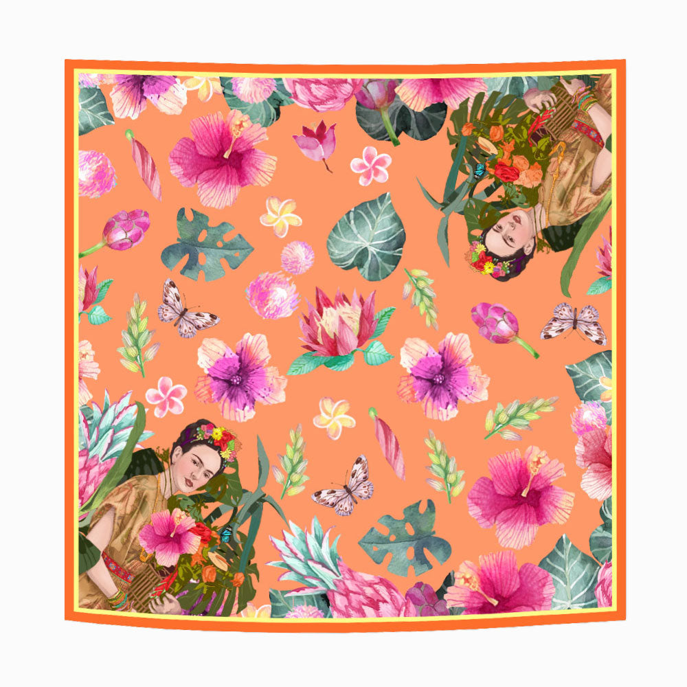 Spring Frida Orange Scarf-2MADISONAVENUE.COM (1751488757802)