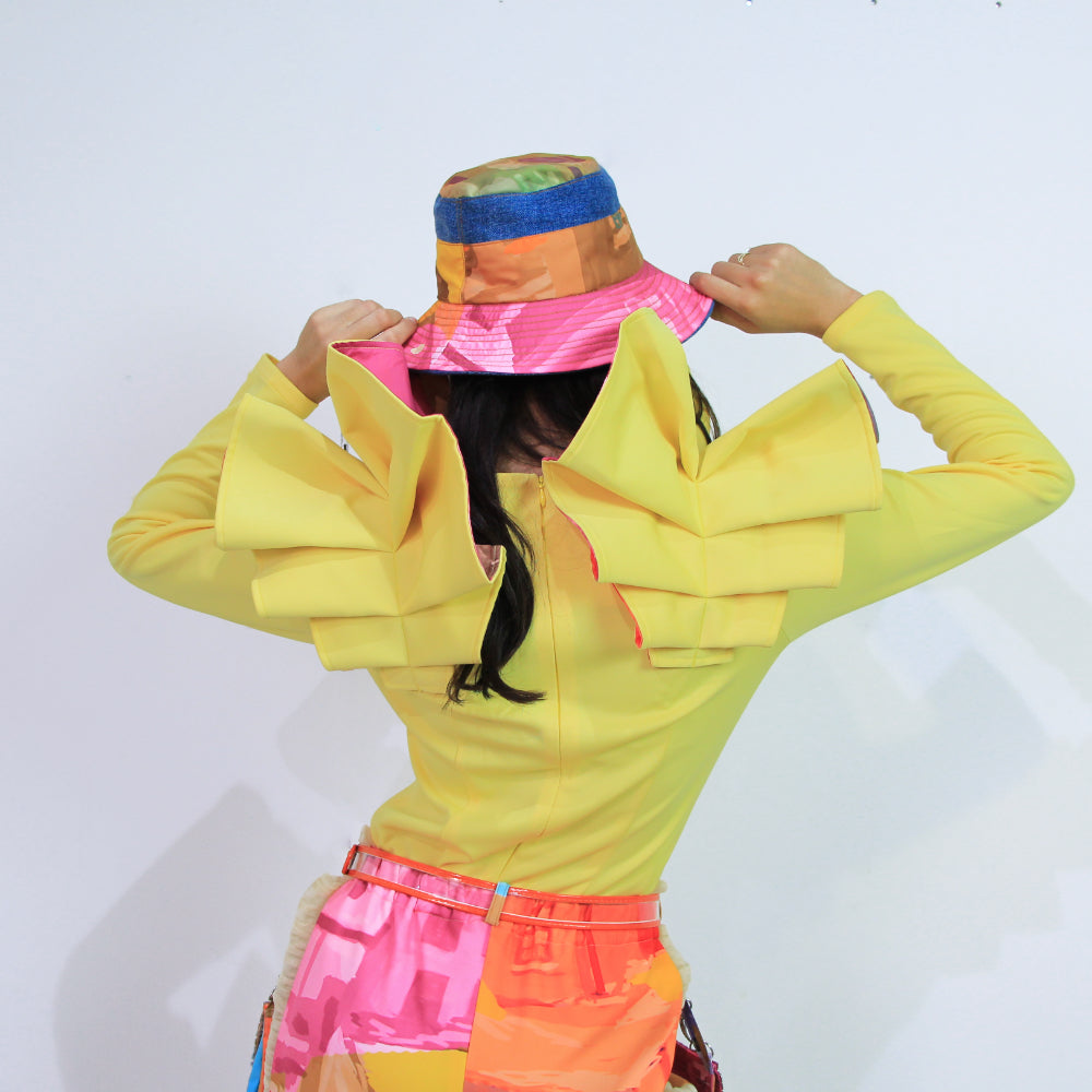 Vivify Statement Top in Yellow-2MADISONAVENUE.COM