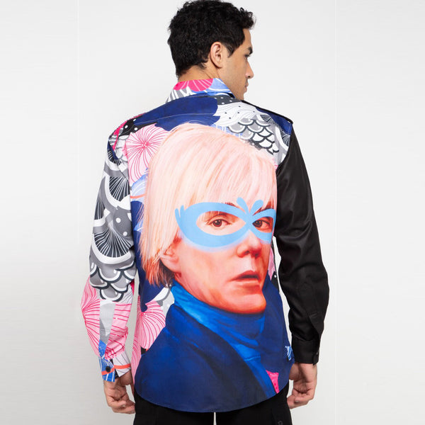 Vivivy Man Shirt Recharging With Andy Warhol