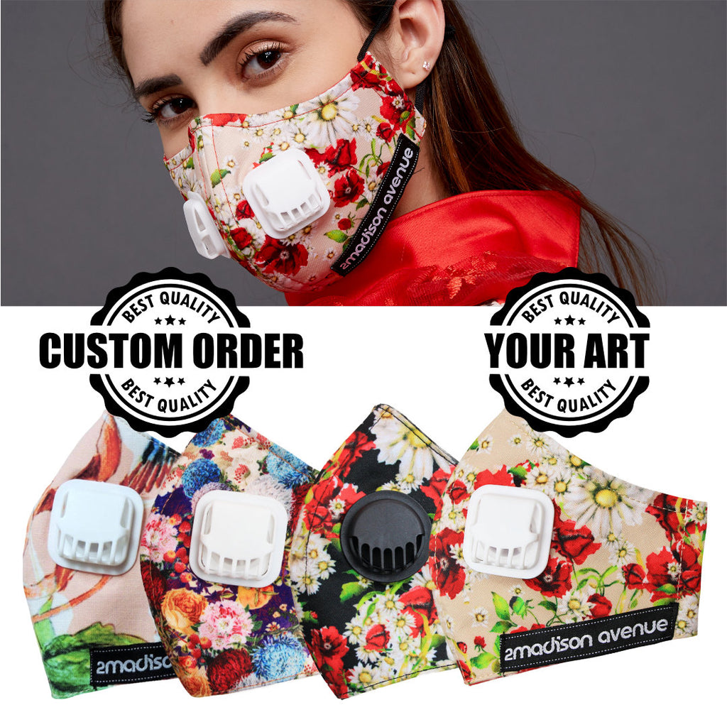 Paket 24 Pcs Custom-Order Facemask With Your Print / Design (4807624917015)