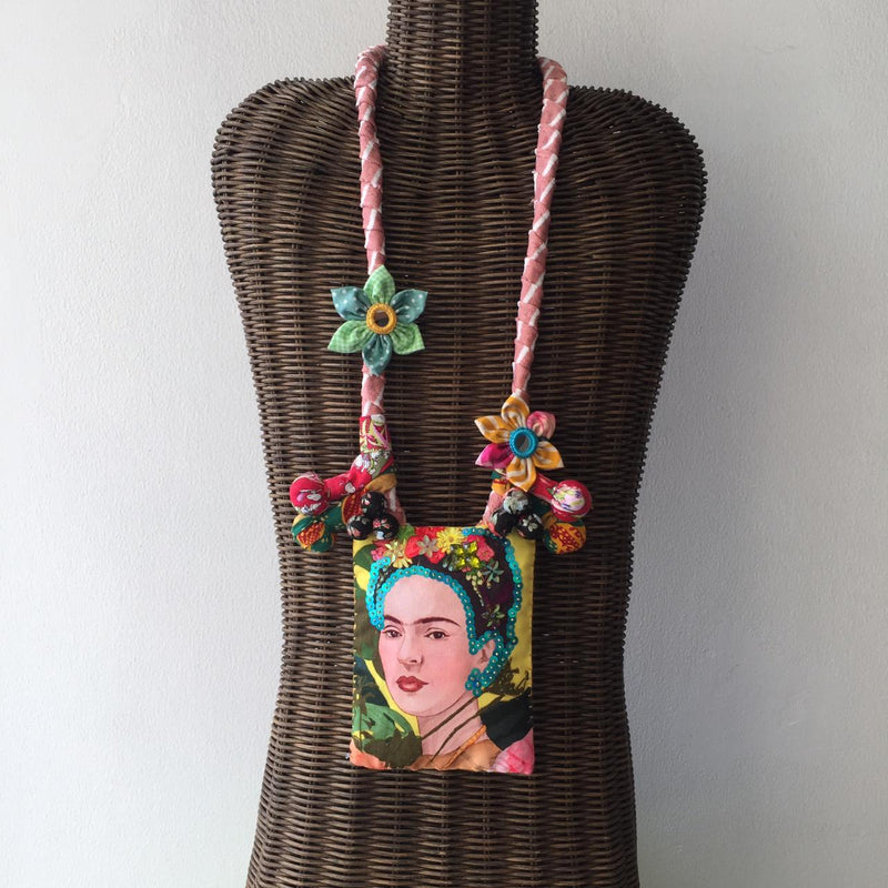Frida Kahlo Floral Necklace #1-2MADISONAVENUE.COM