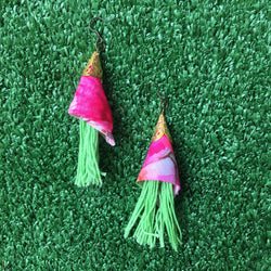 Cone tassels Earrings-2MADISONAVENUE.COM