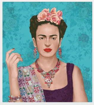 Exclusive Frame Art Frida Kahlo #2-2MADISONAVENUE.COM (1830237470762)