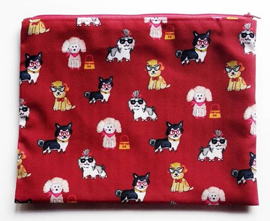 Pouch Dog In Red